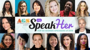 SpeakHer Top 50 Women Speakers of 2019