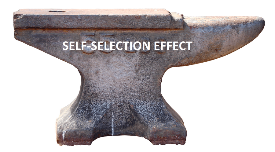 Self-Selection Effect, the Heartless Ghost