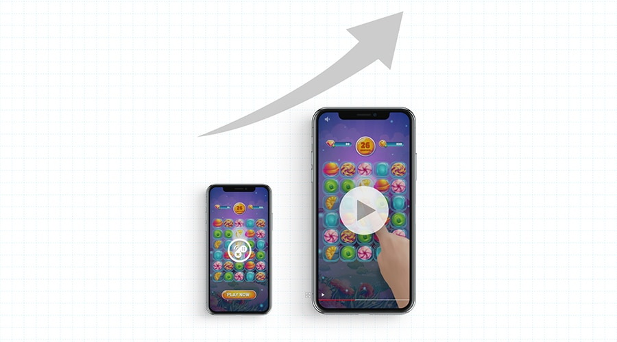Shift from playables to video