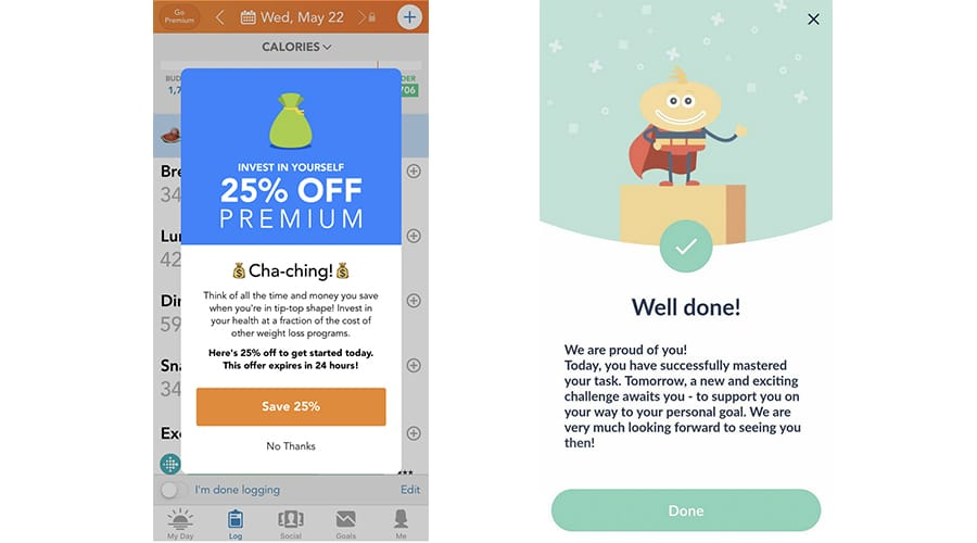 In-app messaging is a great way to send rewards