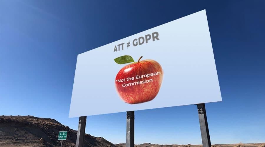 Be cautious app developers ATT ≠ GDPR