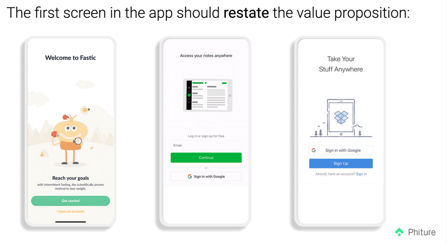 4. Remind users of your key value proposition