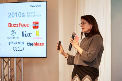 Anatomy Media's Gabriella Mirabelli speaking on reaching younger audiences at App Growth Summit NYC 2018