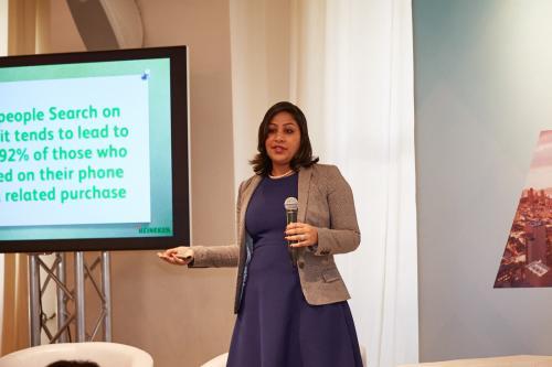 Our Keynote Speaker Arti Sahgal from HEINEKEN presents at the App Growth Summit NYC 2018