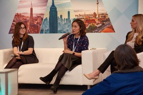 "GLAMSQUAD's Jennifer Chon and the Women In Wireless panel ""Path to Long-Term Engagement & ROI"""
