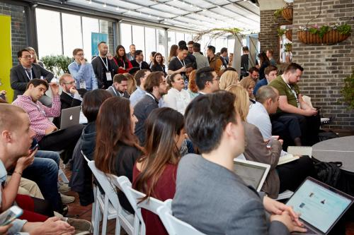 The Experts' Stage on the Terrace was jam packed at the sold out App Growth Summit NYC 2018