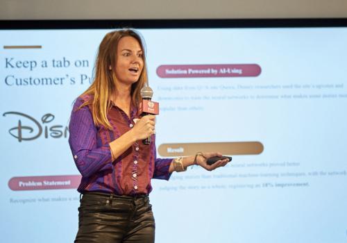 App Growth Mini-Summit NYC18 - CleverTap's Kara Dake Presents on AI & Machine Learning