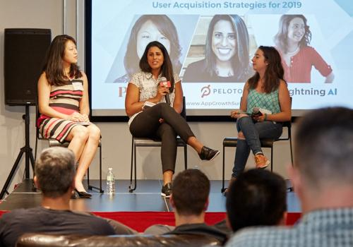 App Growth Mini-Summit NYC18 - Vivian Chang from Plated, Leana Kalinowski from Peloton, and Colette Nataf from Lightning AI discuss User Acquisition Strategies
