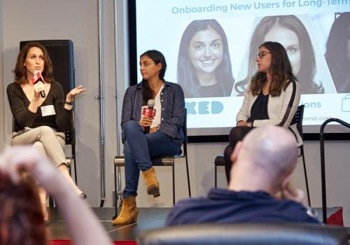 App Growth Mini-Summit NYC18 - Rebecca Nackson from ourIQ Solutions, Elyse Burack from Boxed, and Estee Goldschmidt from ShopDrop talk about Onboarding New Users for Long-Term Retention